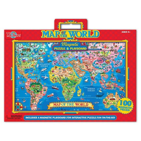 Map of the World Magnetic Puzzle 100pc - image 1 of 3
