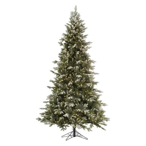 7.5ft Unlit Artificial Christmas Tree Full Frosted Fir Fir : Target