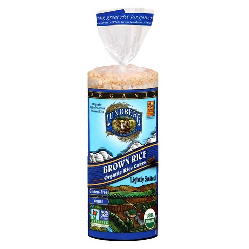 Lundberg Brown Rice Lightly Salted Organic Rice Cakes - 8.5oz - image 1 of 1