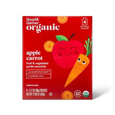 Organic Applesauce Pouches - Apple Carrot - 4ct - Good & Gather™