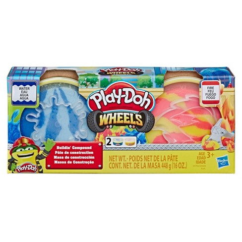 Play-Doh Wheels Fire and Water Buildin' Compound 2-Pack of 8-Ounce Cans - image 1 of 2