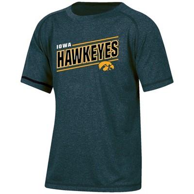 NCAA Iowa Hawkeyes Boys' Short Sleeve Gray Heather Raglan T-Shirt