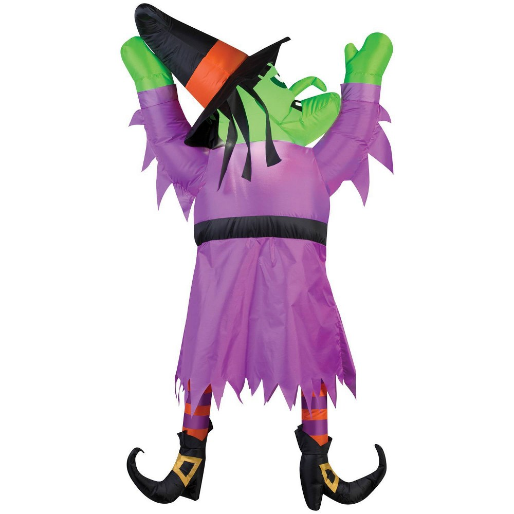 60 Halloween Inflatable Witch From Roof