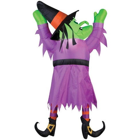 """60"""" Halloween Inflatable Witch From Roof - image 1 of 3"""