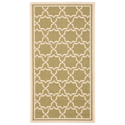 Courtyard Patio Rug Green/ Beige - Safavieh® - image 1 of 1