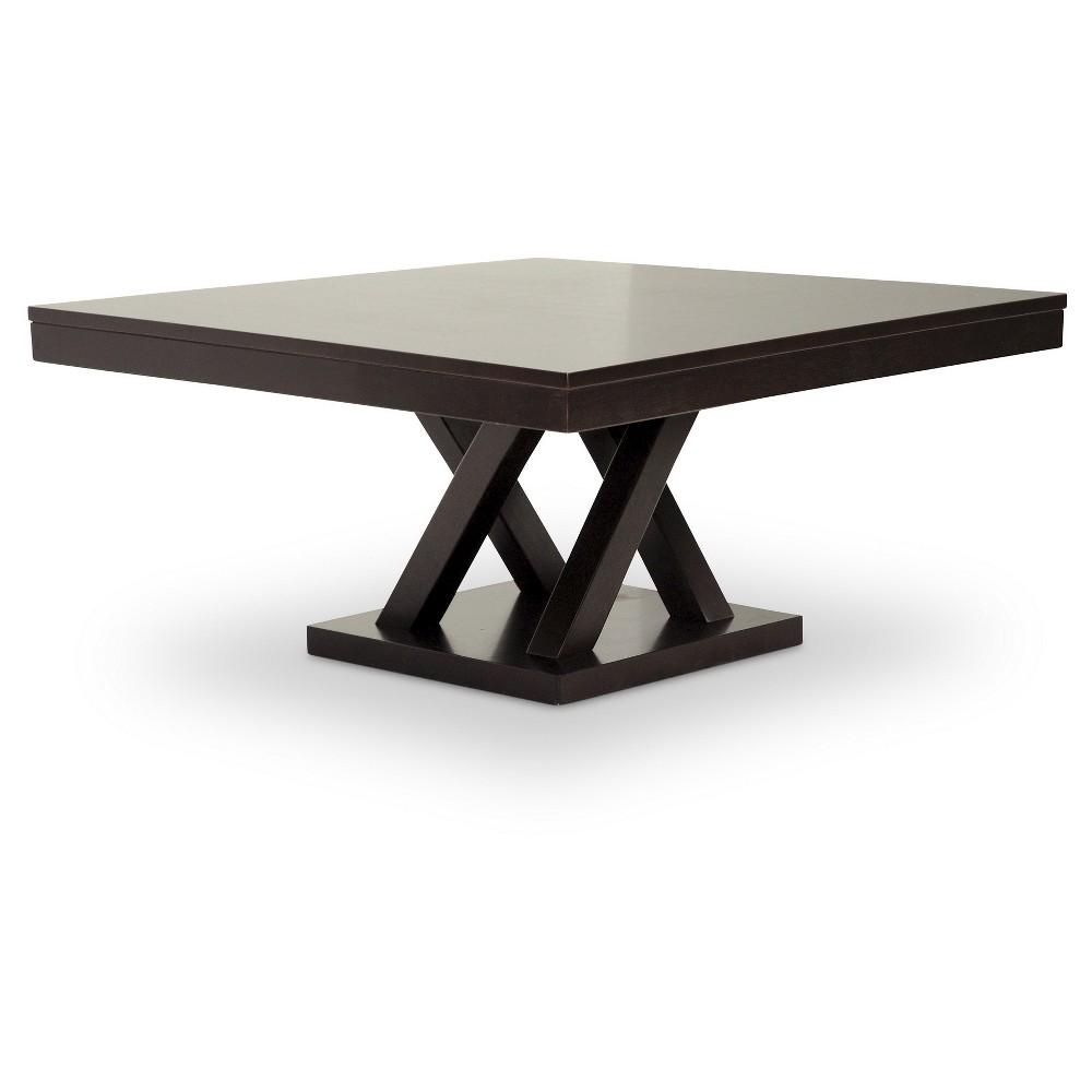 Everdon Modern Coffee Table Dark Brown - Baxton Studio