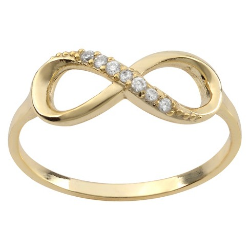 1/10 CT. T.W. Round-cut Cubic Zirconia Infinity Pave Set Ring in Sterling Silver - image 1 of 2