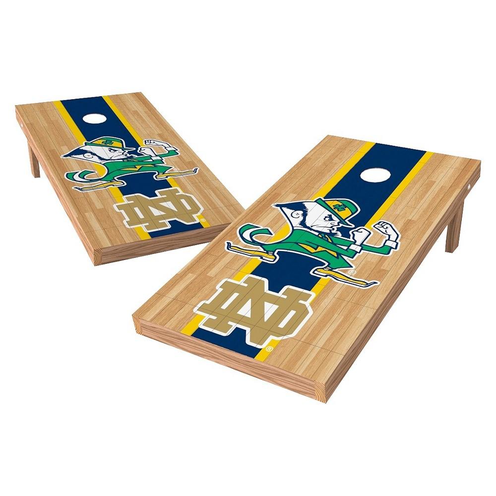 NCAA Wild Sports2' x 4' Heritage Design Authentic Cornhole Set Notre Dame Fighting Irish