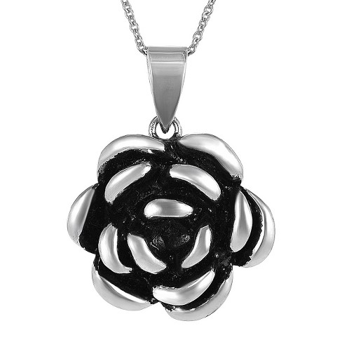 Tressa Collection Sterling Silver Flower Pendant - image 1 of 5