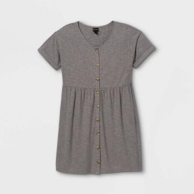 Girls' Flowy Button-Front Short Sleeve Dress - art class™