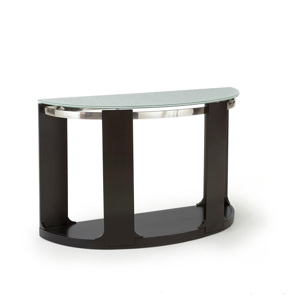Croften Cracked Glass Sofa Table Merlot - Steve Silver