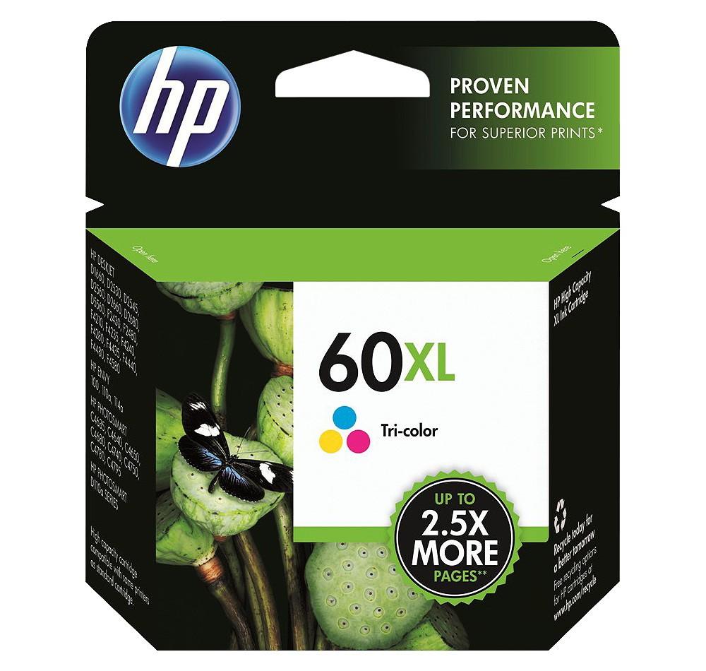HP 60XL Single Ink Cartridge - Tri-color (CC644WN#14), Tri-Color (60 Xl)