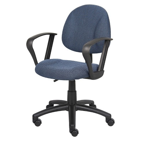 Deluxe Posture Chair with Loop Arms Blue - Boss Office Products - image 1 of 4