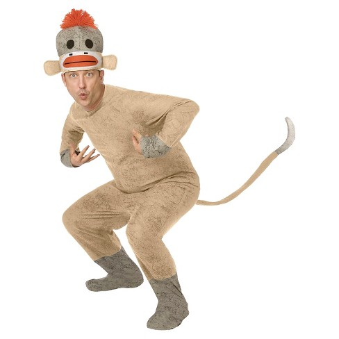 Men's Sock Monkey Costume One Size Fits Most - image 1 of 1