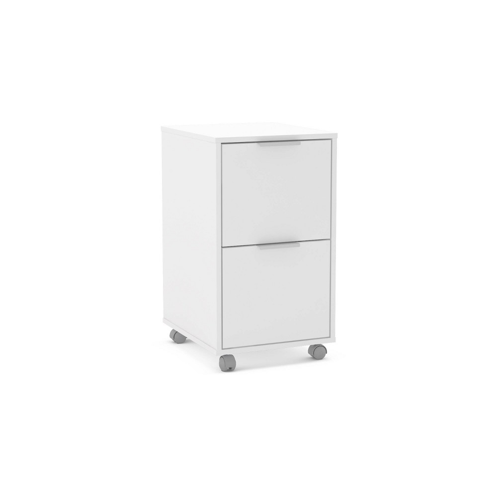 Image of Fresno 2 Drawer File Cabinet White - Chique