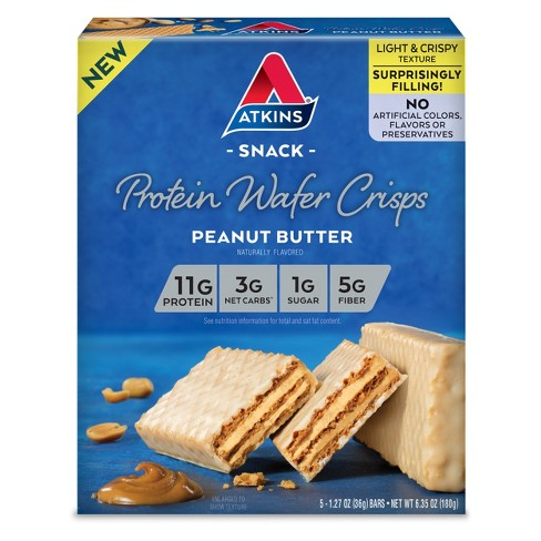 Atkins Protein Wafer Crisps - Peanut Butter - 5ct - image 1 of 1