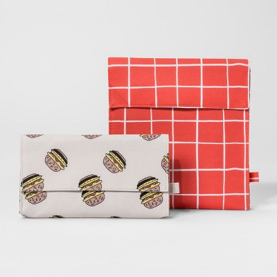 Painted Grid and Hamburger Lunch Bag - Set of 2 - Room Essentials™