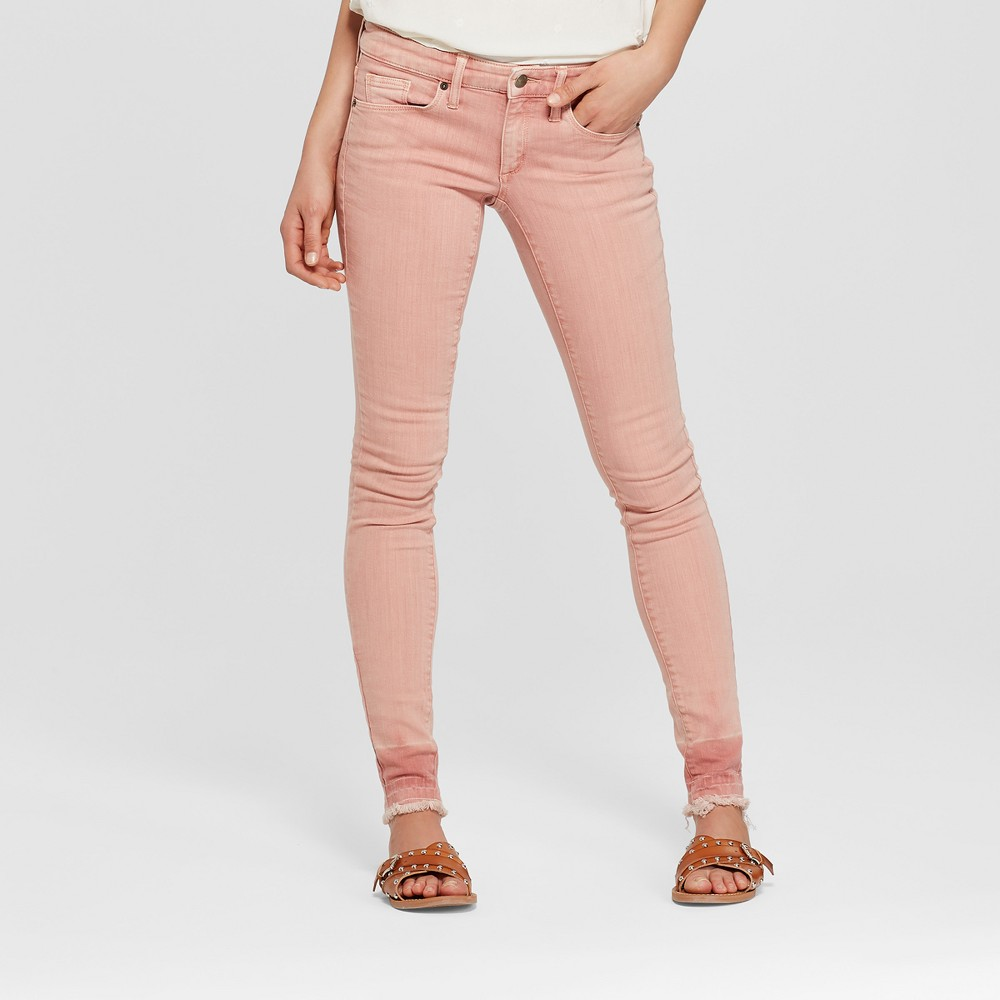 Women's Mid-Rise Skinny Jeans - Universal Thread Pink 12