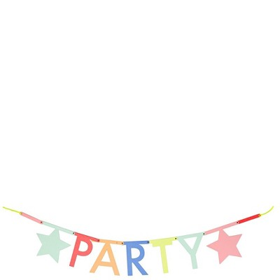 Meri Meri - Multicolor Letter Garland Kit - Party Decorations and Accessories - 1ct