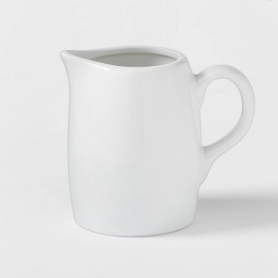 8oz Ceramic Creamer Pitcher White - Threshold™