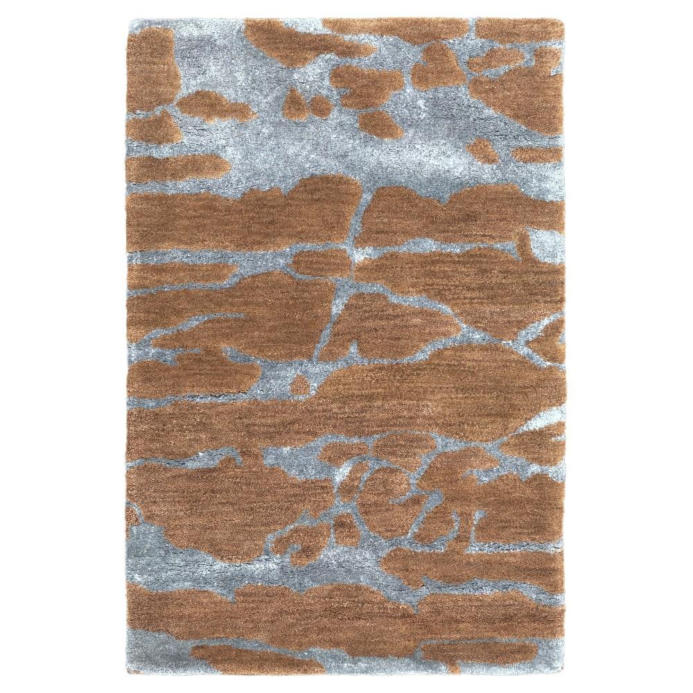 Micio Area Rug - Dark Brown, Teal (Blue) - (2' x 3') - Surya