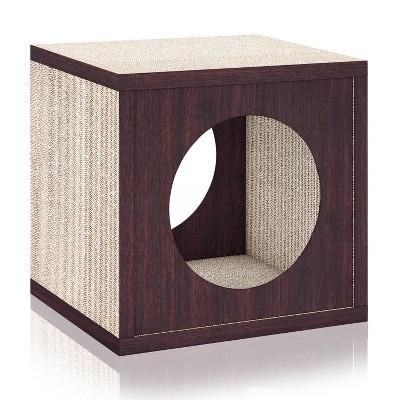 Way Basics Eco Cube Cat Scratcher - S/M - Espresso Brown