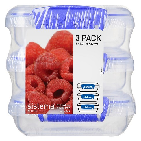 Sistema Klip It 3pk 6.7oz Containers - image 1 of 3