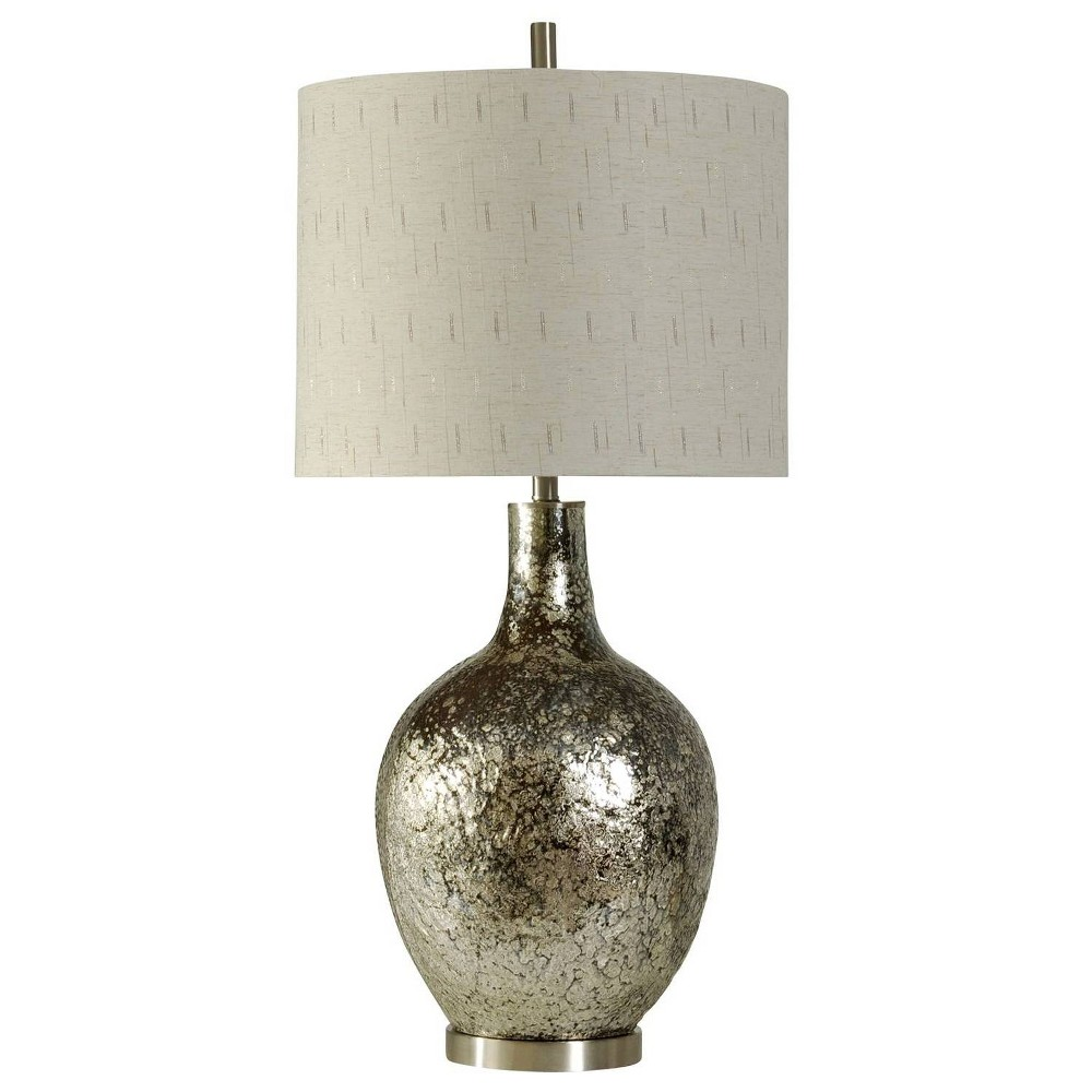 Navarro Table Lamp Silver (Includes Light Bulb) - StyleCraft