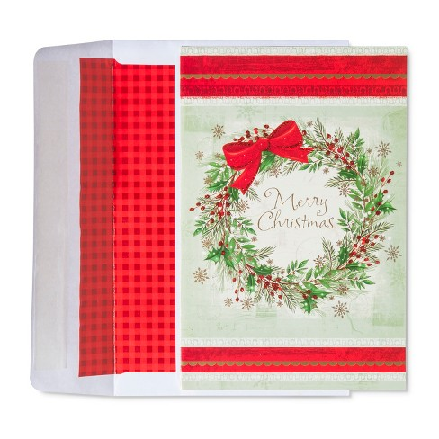 American Greetings 40ct Christmas Tree Red Holiday Boxed Cards - image 1 of 1