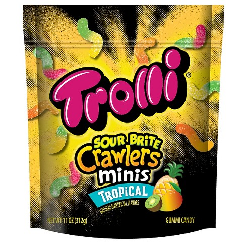 Trolli Sour Brite Crawlers Minis Tropical Gummi Candy - 11oz - image 1 of 1