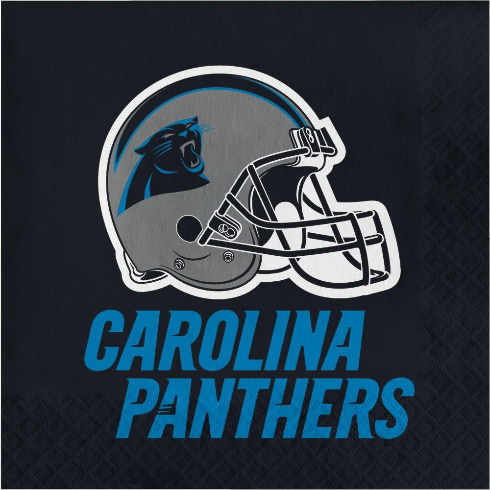 Image of 16ct Carolina Panther Napkins, Multi-Colored