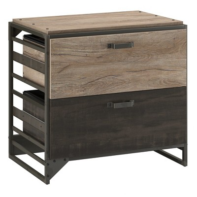 Refinery 2 Drawers File Cabinet Rustic Gray - Bush Furniture