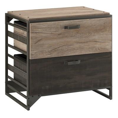 Gentil Refinery 2 Drawers File Cabinet Rustic Gray   Bush Furniture