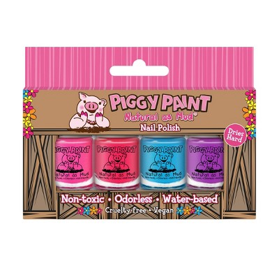 Piggy Paint Nail Polish Set - 0.48 fl oz - 4pk