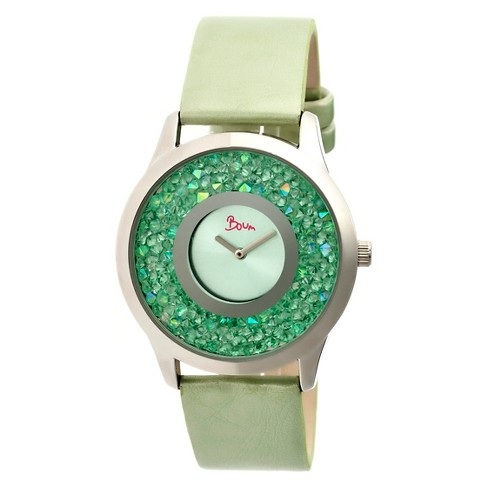 Women's Boum Clique Watch with Custom Stone-Inlaid Outer Dial-Mint - image 1 of 3