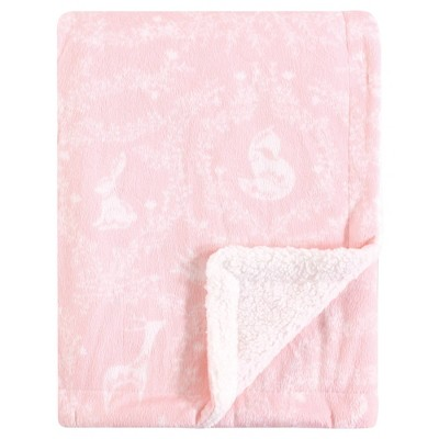 Yoga Sprout Unisex Baby Mink and Sherpa Plush Blanket - Lace Garden One Size