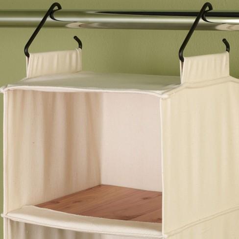 Household Essentials® Cedarline 6-Shelf Cotton Canvas Hanging Sweater  Organizer   Target 5cd7711d42