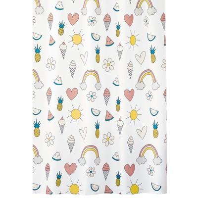 mDesign Fabric Shower Curtain, Ice Cream Print