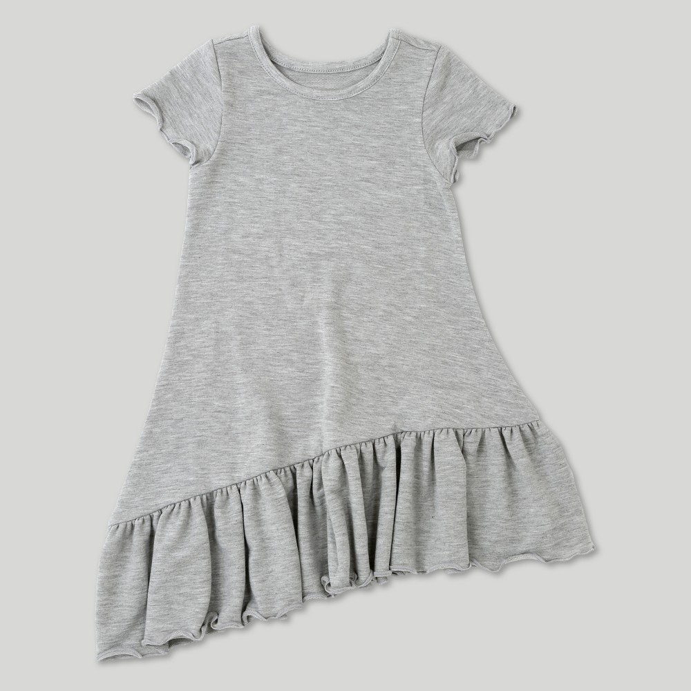 Toddler Girls' Afton Street Short Sleeve A Line Dress - Heather Grey - 3T, Gray
