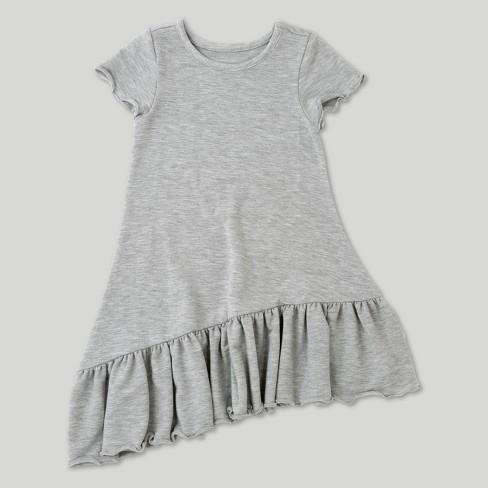 a359a1963cf Toddler Girls  Afton Street Short Sleeve A Line Dress - Heather Grey ...