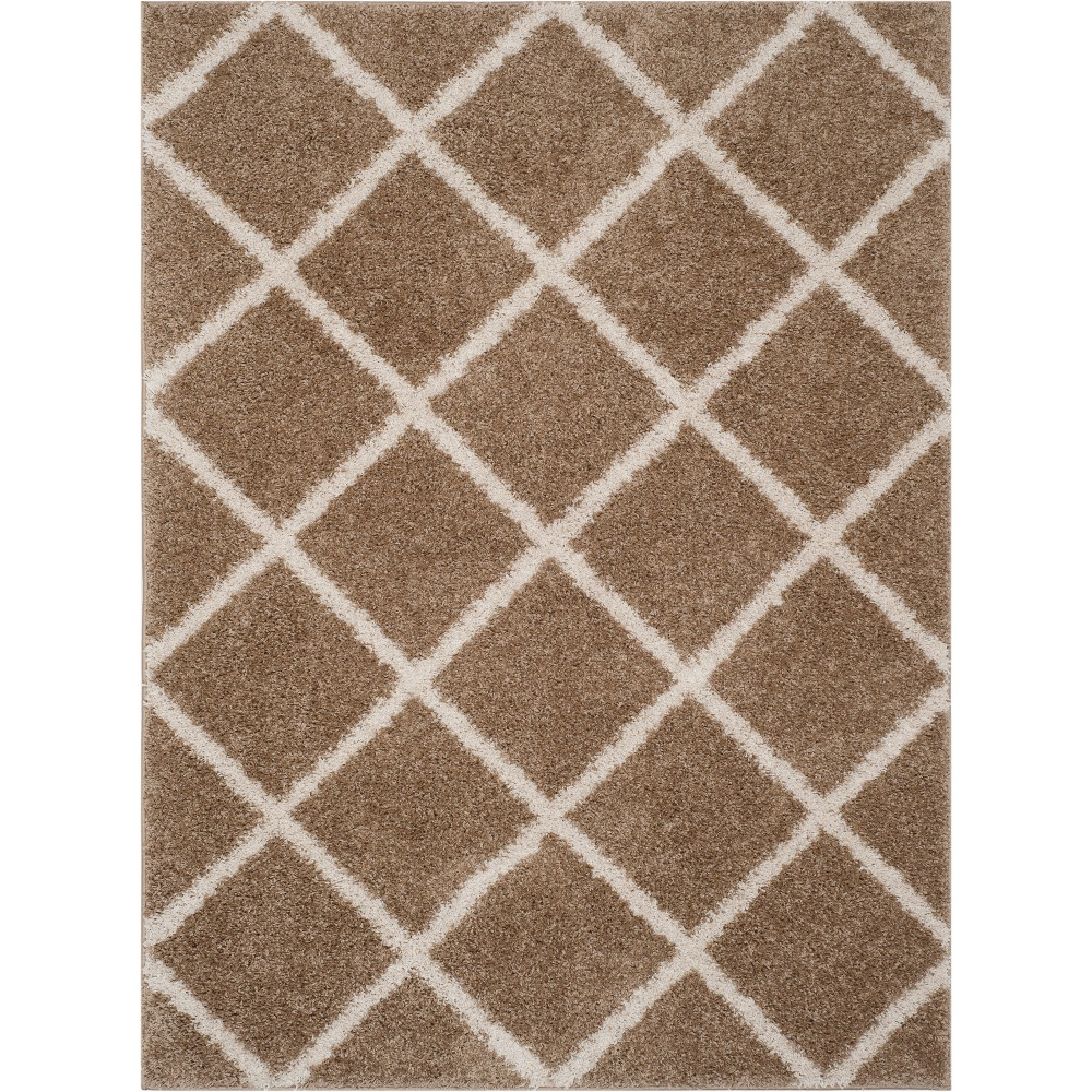 8'X10' Geometric Loomed Area Rug Medium Beige/Ivory - Safavieh