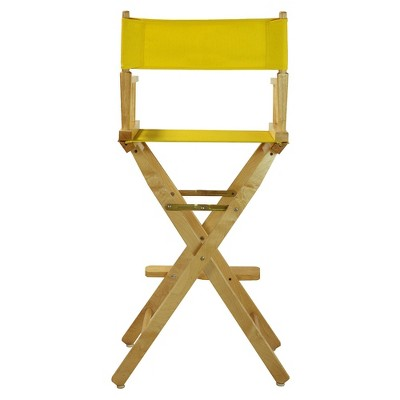 Yellow Bar Height Director's Chair-Natural
