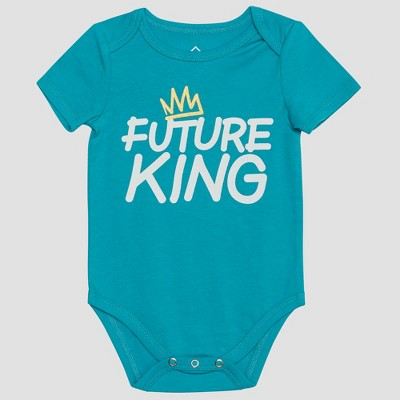 Wellworn Baby's Future King Bodysuit - Bright Blue 12M