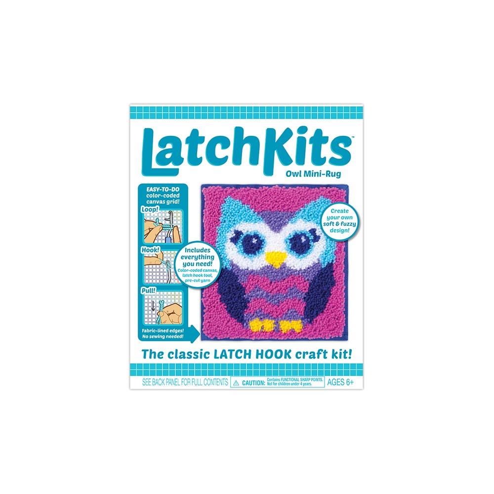 Image of LatchKits Owl Mini Rug Craft Kit