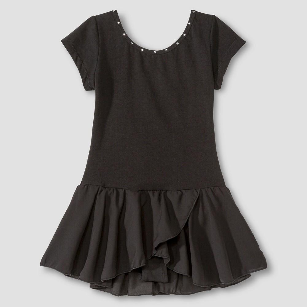Danshuz Girls' Leotard - Black 6x-7, Size: 6X/7