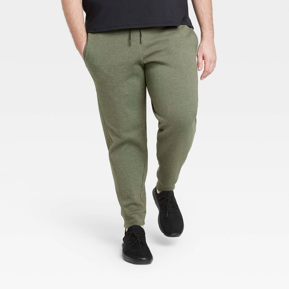 Men's Tall Premium Fleece Jogger Pants - All in Motion Olive Green XXLT, Men's, Green Green was $34.0 now $23.8 (30.0% off)