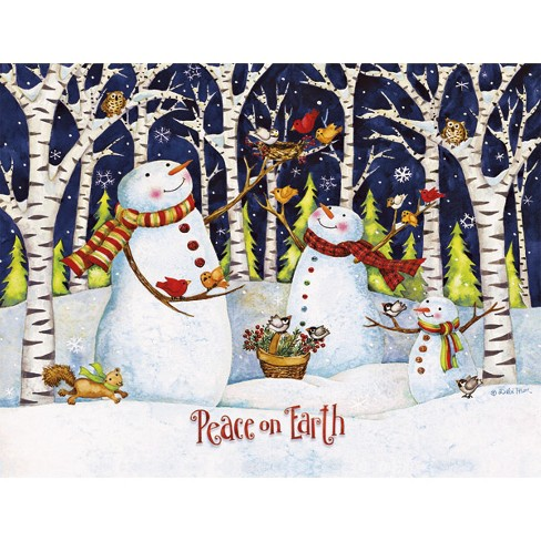 18ct Birch and Snowmen Holiday Boxed Cards - image 1 of 1