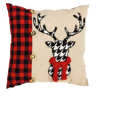 Stag Houndstooth Pillow