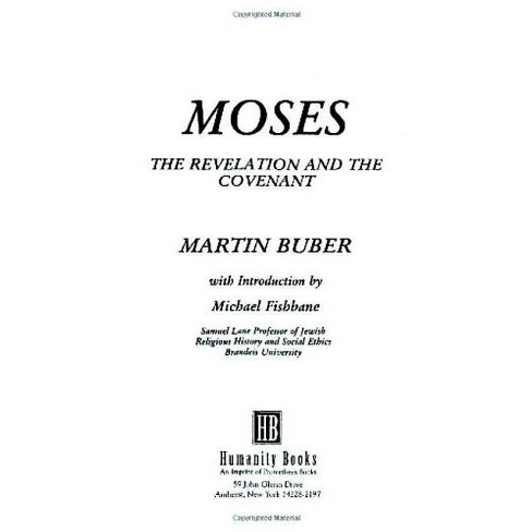 Moses - by  Martin Buber (Paperback) - image 1 of 1