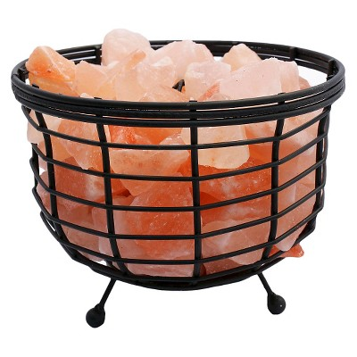 Accentuations by Manhattan Comfort Himalayan Wired Basket Lamp 1.0 with Natural Rocks ( 8 )